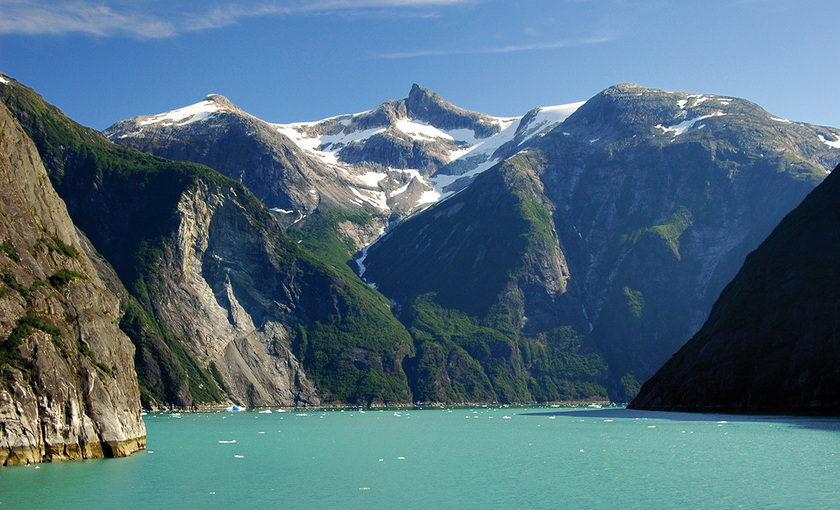 Fjord Tracy arm van Alaska