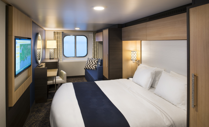 Modernes Außenkabinen auf Anthem of the Seas