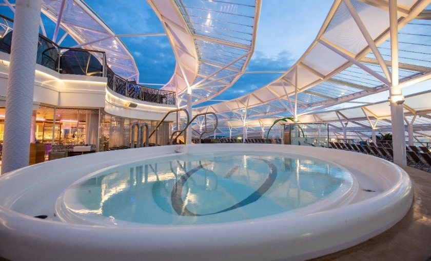 Relax Solarium an Bord von Harmony of the Seas