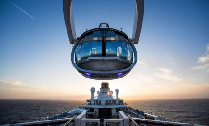 North Star höchste Aussicht am Meer mit Anthem of the Seas