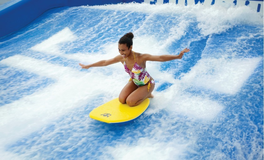 Flowriding auf der Independence of the Seas