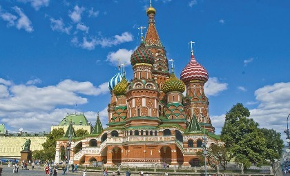 Saint Basil's kathedraal in St. Petersburg